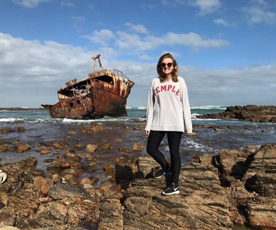 Hannah McComsey in South Africa