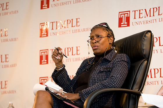 Professor Kimmika Williams-Witherspoon, one of the organizers of Chat in the Stacks