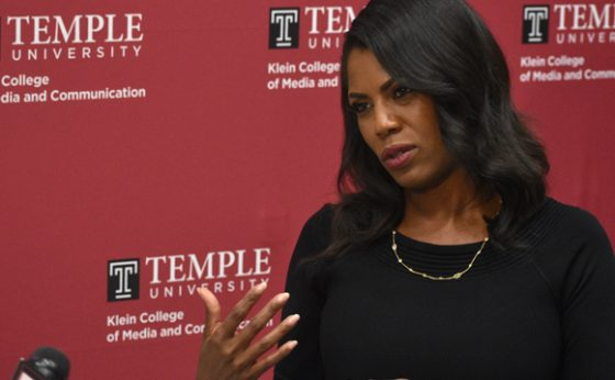 Omarosa Visits Temple University